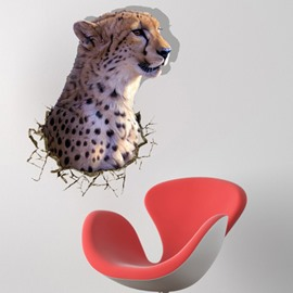 Amazing Creative 3D Leopard Pattern Wall Sticker