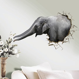 New Style Amazing 3D Elephant Wall Sticker
