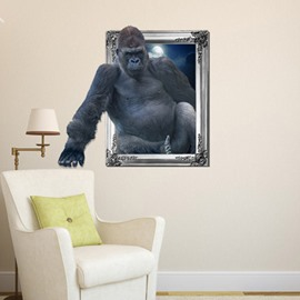 Amazing Gorilla Pattern Home Decorative 3D Wall Sticker
