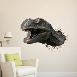 Amazing Creative Dinosaur Through Hole Pattern 3DWall Sticker