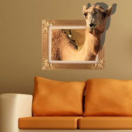 Cute Lovely Camel Pattern Home Decorative 3D Wall Sticker