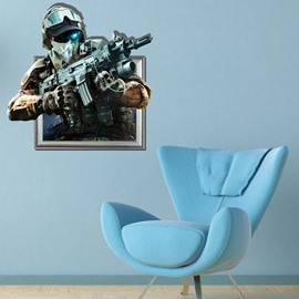 Amazing Creative 3D Policeman Wall Sticker