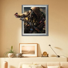 New Arrival Lifelike 3D Terrorist Wall Sticker