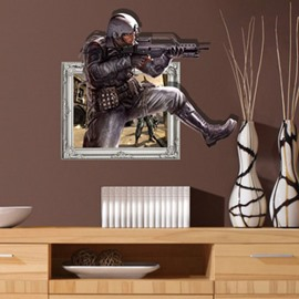 Amazing Design Policeman Pattern 3D Wall Sticker
