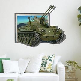 Stunning Creative 3D Tank Wall Sticker