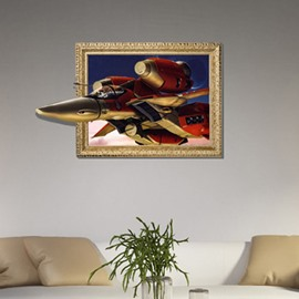 Fancy Creative 3D Aircraft Wall Sticker