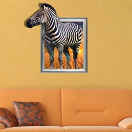 Natural and Elegant Creative 3D Zebra Wall Sticker