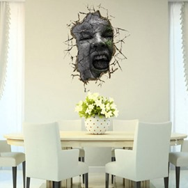 Stunning Creative 3D Face Wall Sticker