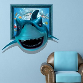 New Arrival Gorgeous 3D Shark Wall Sticker