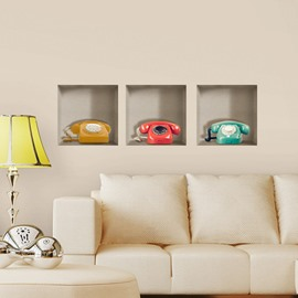 New Arrival Amazing 3D Telephone Patterns Wall Stickers