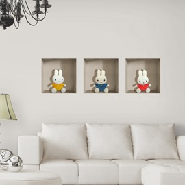 Amazing Lovely Cute Rabbit Patterns 3D Wall Stickers