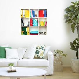 Stunning 3D Folder and Shelf Pattern Wall Stickers