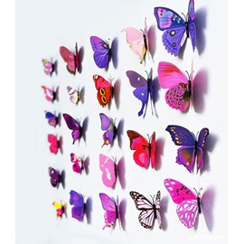 3D Butterfly Wall Decor Wall Stickers Removable Mural Decals Home Decoration Kids Room Bedroom Decor