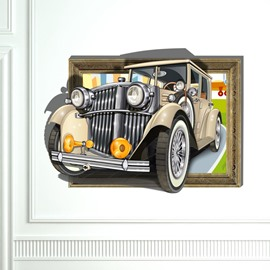 Wonderful Retro Vintage Car 3D Wall Sticker