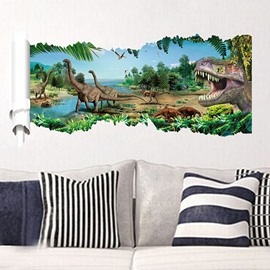Amazing Fantasy Pre-Historic Jurassic Park 3D Wall Stickers