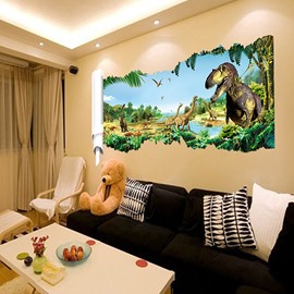 Fantastic Jurassic Park Dinosaur Removable 3D Wall Sticker