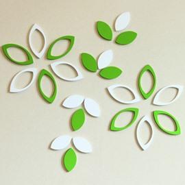 Creative Leaf Design Wooden 1 Set 3D Wall Sticker