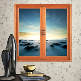 Amazingly Beautiful Nature Scenery Window View Removable 3D Wall Stickers
