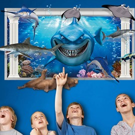 Creative Shark 3D three-dimensional Wall Stickers