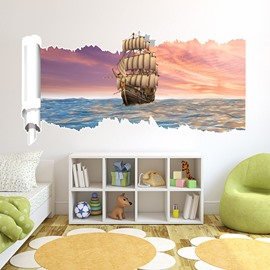 New Arrival Creative Boat on Sunset 3D Wall Stickers