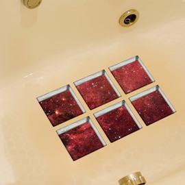 Hot Sale Starlit Sky Pattern 3D Bathtub Stickers