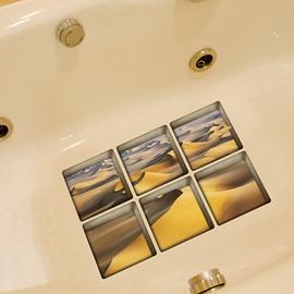 Hot sale Creative Desert Pattern 3D Bathtub Stickers