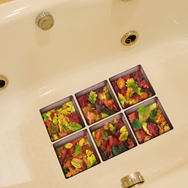 Amazing Maple leaf Pattern 3D Bathtub Stickers