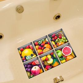 Hot Sale Fruit 3D Bathtub Stickers for Room Decoration