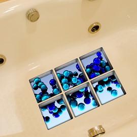 Hot Sale Beautiful Blue Ball 3D Bathtub Stickers
