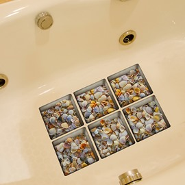 New Arrival Amazing Sea Shell Pattern 3D Bathtub Stickers