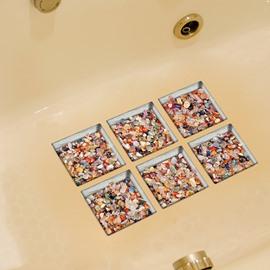Hot Sale Colorful Stone Pattern Bathtub 3D stickers