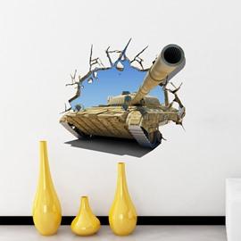 Creative Vivid Tank Pattern Home Decorative 3D Wall Sticker