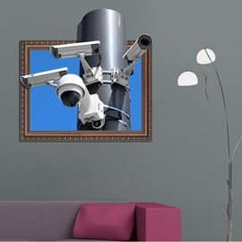 Fantastic Rectangle Modern Technology Webcam Pattern 3D Wall Stickers