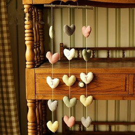 Lovely Fabric Handmade Colorful Heart Design Home Decorative Wall Decors