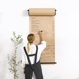 Beige Kraft Paper Creative Hanging Hand Painted Studio Roller