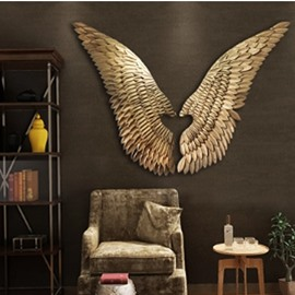 Golden Wings Classic Style Iron Durable and Eco-friendly Wall Decor