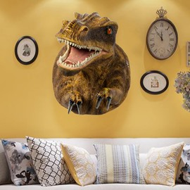 Yellow Dinosaur Pattern Resin Durable and Eco-friendly Hanging Wall Decor