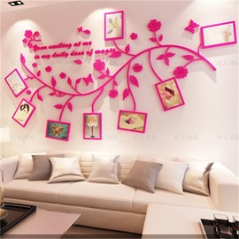 48 Photo Frame Branch Country Style Acrylic 3D Waterproof Photo Frames Wall  Stickers