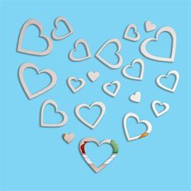 Loving Heart DIY Acrylic Fashion Mirror Surface Sticker