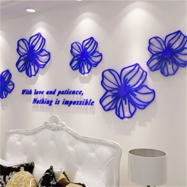 Flower Pattern DIY Fashionable Adjustable Acrylic 3D Wall Sticker