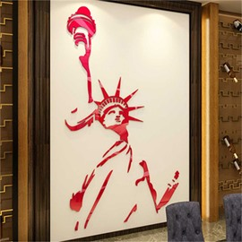 Statue Of Liberty Pattern 3D Fashionable Wall Sticker