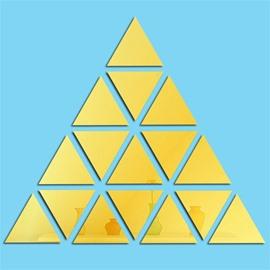 Triangle Geometric Pattern Acrylic Mirror Surface Wall Sticker
