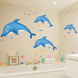 Vivid Dolphin Pattern Creative DIY Home Decor Removable Wall Sticker