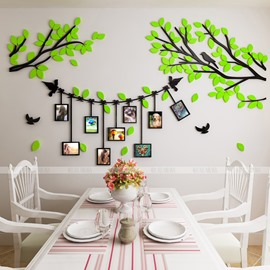 Creative Photo Frame Tree Rural Style 3D Acrylic Removable Wall Sticker
