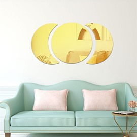 Moon And Sun Shape 3D Acrylic DIY Mirror TV and Sofa Background Wall Stickers