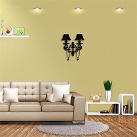 Creative Lamp Shape 3D Acrylic 3 Color TV And Sofa Background Wall Stickers