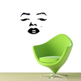 Funny Face Pattern 3D Acrylic 3 Color TV And Sofa Background Wall Stickers