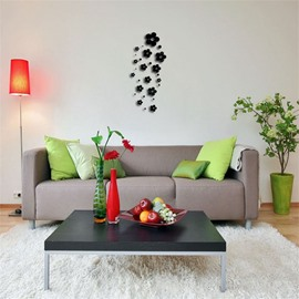 Classic DIY Flower Shape 3D Acrylic 3 Color TV And Sofa Background Wall Stickers