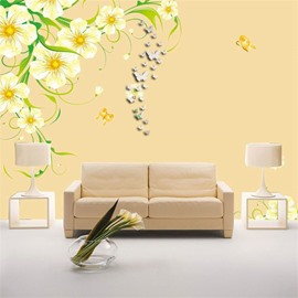 Classic Butterfly Shape 3D Acrylic 3 Color TV And Sofa Background Wall Stickers