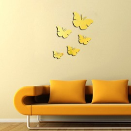 Creative Butterfly Pattern 3D Acrylic 3 Color TV And Sofa Background Wall Stickers
